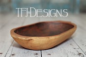 Image of Oval Trencher Bowl - Vintage Style - Newborn Photography Prop