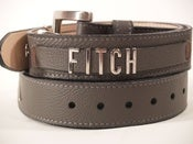 "Image of Leather ""Name"" Belt"