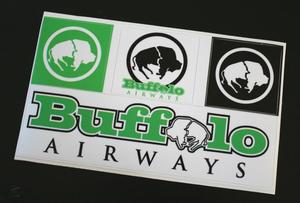 Image of Buffalo Sticker Set