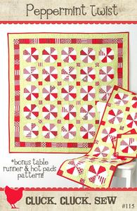 Image of Peppermint Twist Quilt Pattern #115, Paper Pattern
