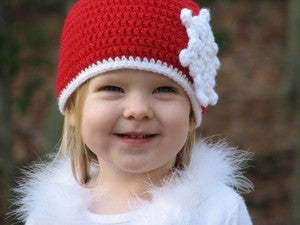 Image of Snowflake Beanie Crochet Pattern