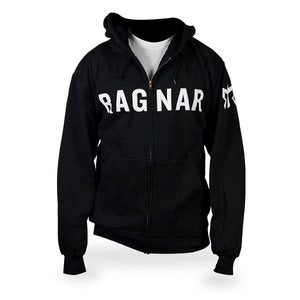 Image of Ragnar Zip-up hoodie- Black Stitch