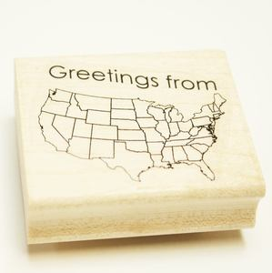 Image of Greetings from rubber stamp
