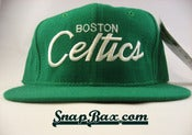 Image of VINTAGE GREEN BOSTON CELTICS SCRIPT SNAPBACK