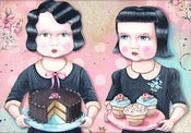 Image of Allie & Amy cake cupcakes girls print S