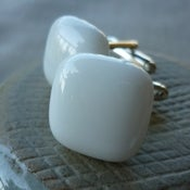 Image of white cufflinks