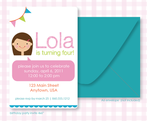 Image of PRINTABLE BDAY INVITE