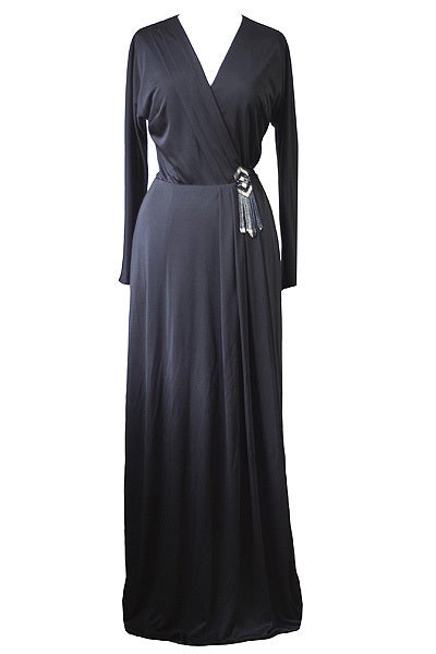 Image of Vintage 1970s Vera Mont  Maxi Dress