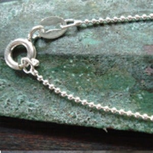 "Image of 16"" Sterling Silver Bead Chain"