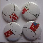 Image of hand pressed badges - 4 pack