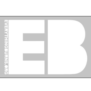 Image of Everything Burns 'EB' Stickers (3 for $3)