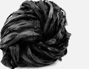 Image of Restful Slumber: Black Silk Ribbon 100g