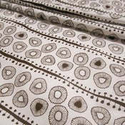 Image of Daisies 100% organic cotton fabric - chocolate