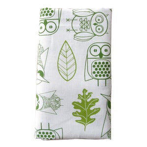 Image of Night Owls Napkins {white-set 4}