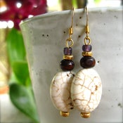 Image of White and Purple Earrings by Alisia