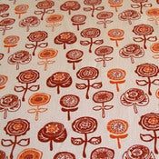 Image of Spot Daisies on hemp/cotton