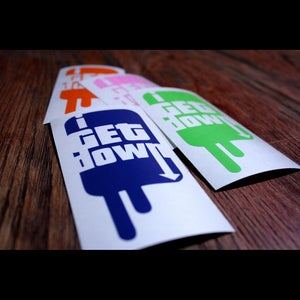 Image of I Get Down Decal