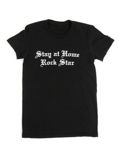 Image of Stay at Home Rock Star™ Tee in Black