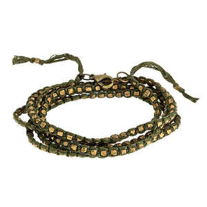 Image of Brass Bead Wrap Bracelet / Necklace