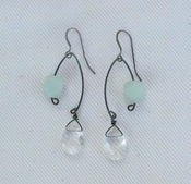Image of Fishing Lure~ Clear Teardrop & Amazonite