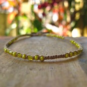 Image of Delicate Sunshine Yellow Anklet/Bracelet