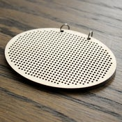 Image of Wooden Cross Stitch Pendant : Horizontal Oval