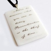 Image of Charles Dickens Quote Pendant