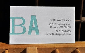 Image of Letterpress Workshop » 2-color Business/Calling Cards
