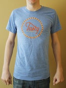 Image of Tri Blend Athletic Blue Logo Shirt