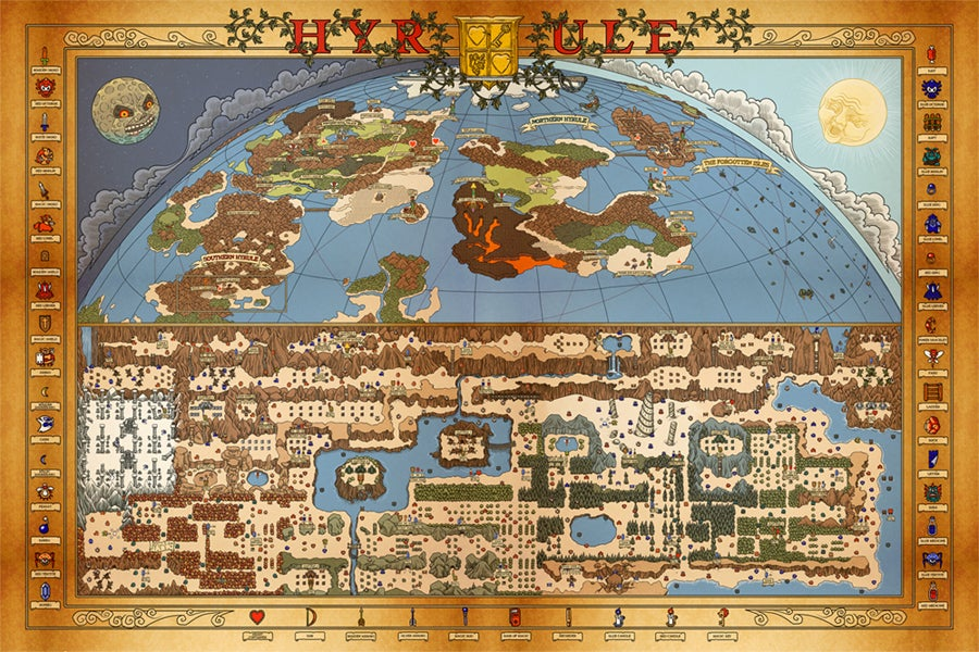 Image of Hyrule Map (Overworld)