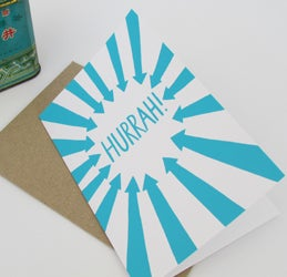 Image of 'Hurrah!' card