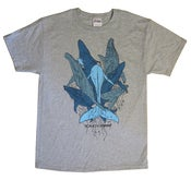 "Image of ""Whales"" Tee (Grey Shirt • Blue Inks)"