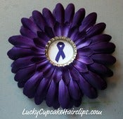 Image of Purple Ribbon Flower