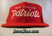 Image of VINTAGE NEW ENGLAND PATRIOTS SCRIPT SNAPBACK 