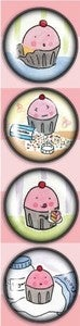 Image of Magnets: 4 pack of Naughty Cuppie Super Strong Dome Magnets