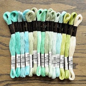Image of Cosmo Embroidery Floss Palette : Atlantic