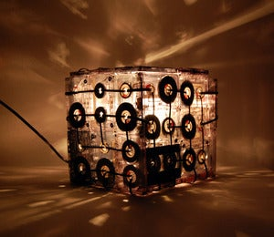 Image of CASSETTE TAPES LAMP BOX (Transparent)