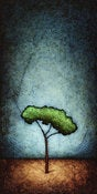 "Image of ""Horizon Tree Peace 1"" <br> Size: 12x6"" <br> 2nd photo shows size"