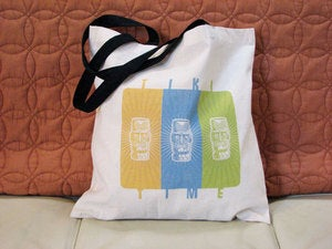 Image of tiki time tote bag