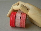 Image of Celo japons (masking tape) 2 rollos rojos