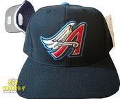 Image of Vintage California Angels Blue Retro Snapback Cap Hat