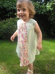 Image of Mini Mod Dress pattern and tutorial 18m/2T/3T/4T - PDF