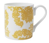 Image of Bone china mug Decayed Glamour Collection – Yellow Damask Design