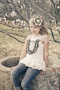 Image of Ruffled Lacey bib top/dress IVORY