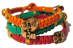 Image of NEW St Tropez Orange 'Don't lose your head' bracelet
