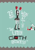 Image of Little Goth Boxes A3 ltd print