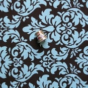 Image of Blue & Brown Damask