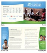 Image of MannaRelief Brochure • 10/pk