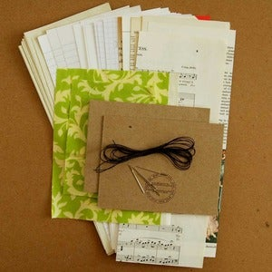 Image of Coptic Journal Kit without tutorial & needles (you choose fabric)