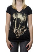 Image of Carter Twins Girls Black Tee 